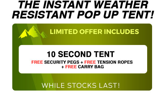 10 Secont Tent Single Offer