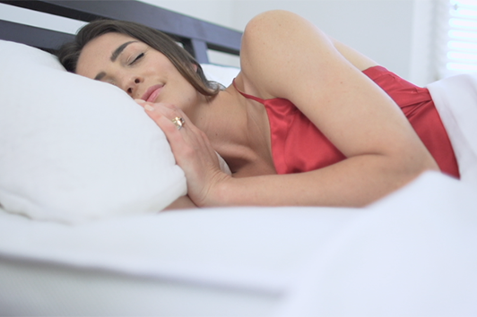 The soft, comfy Bamboo Pillow helps you to sleep soundly
