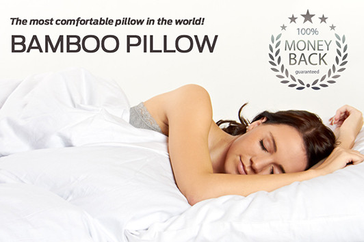 The most comfortable pillow in the world with a money back guarantee