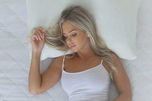 The Bamboo Pillow has soft, cool to the touch fabric, that molds to your shape as you sleep, so you sink in for ultimate comfort and support
