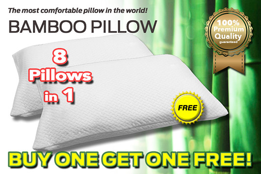 With the buy one get one free giveaway deal, you can have 8 pillows in one, giving you multiple options for your sleep