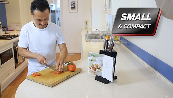 The universal knife block that can hold up to 10 knives or utensils, keeping your bench tidy and clean.