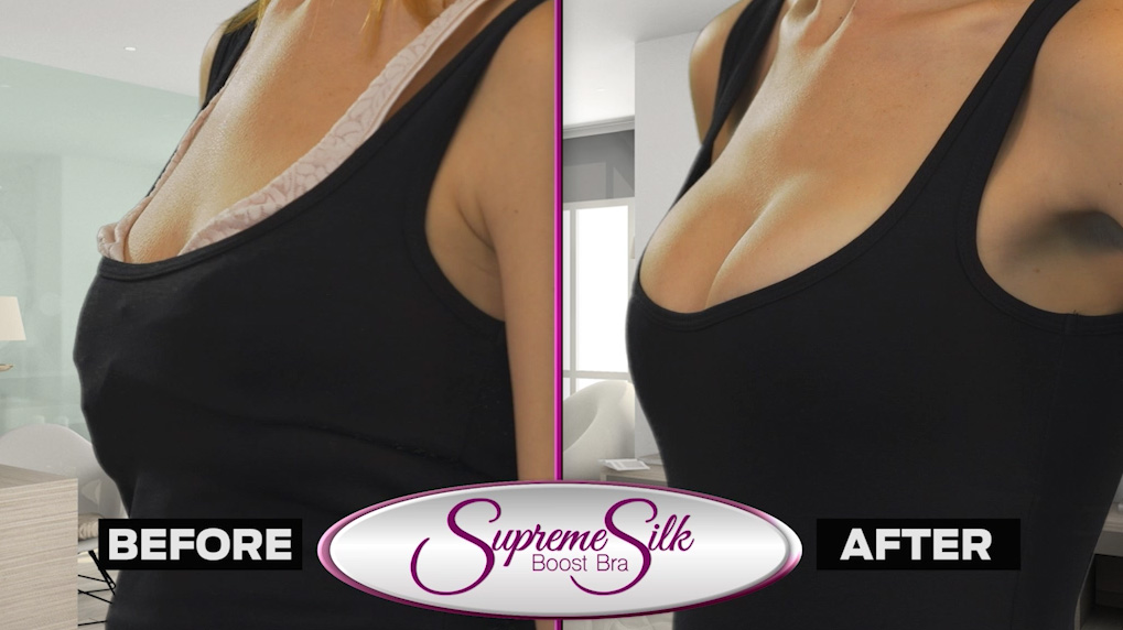 The Supreme Silk Boost Bra gives you a larger chest with ultimate cleavage