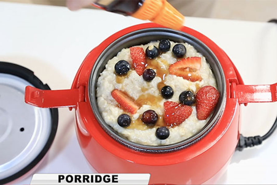 The clever cooker is perfect to cook porridge, it's easy and simple