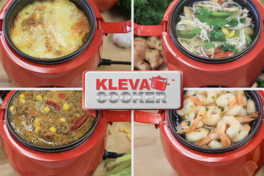 Cook so many different meals in the one pot Kleva Cooker