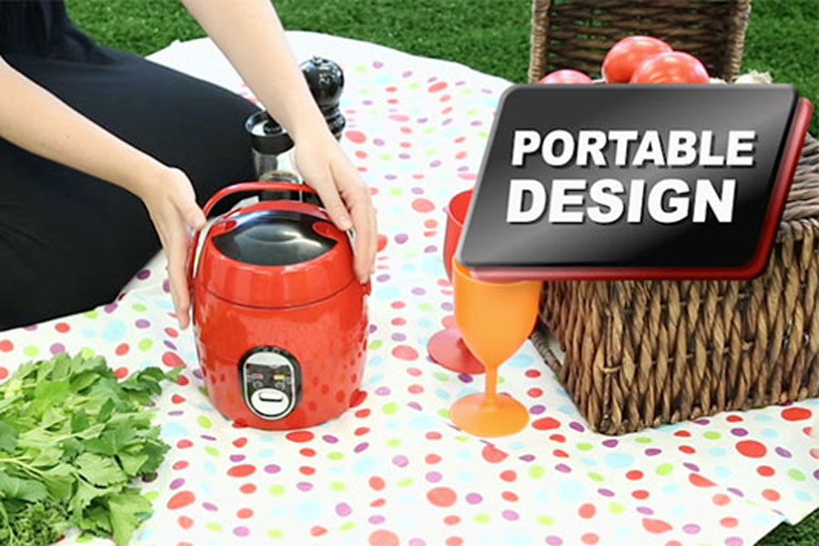 The Kleva Cooker is portable, perfect for picnics, the office, your desk, breakfast lunch or dinner