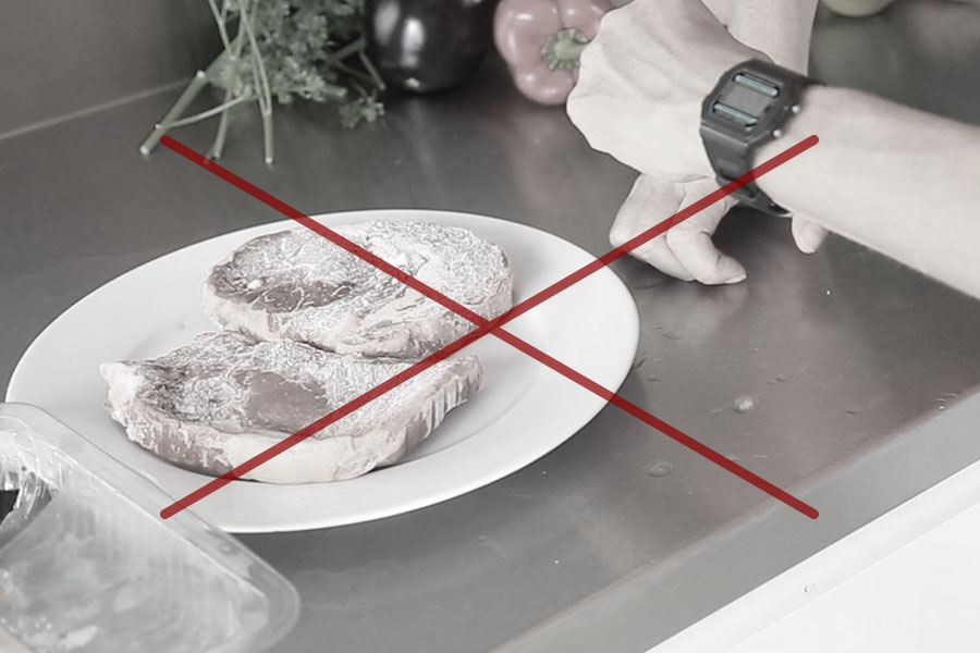 stop waiting hours for food to defrost on a bench or in a sink