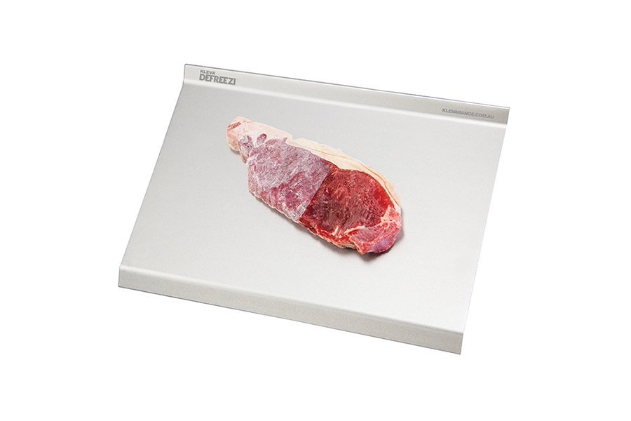 Amazingly fast defrosting tray for frozen meat, veggies, cakes, bread and more!