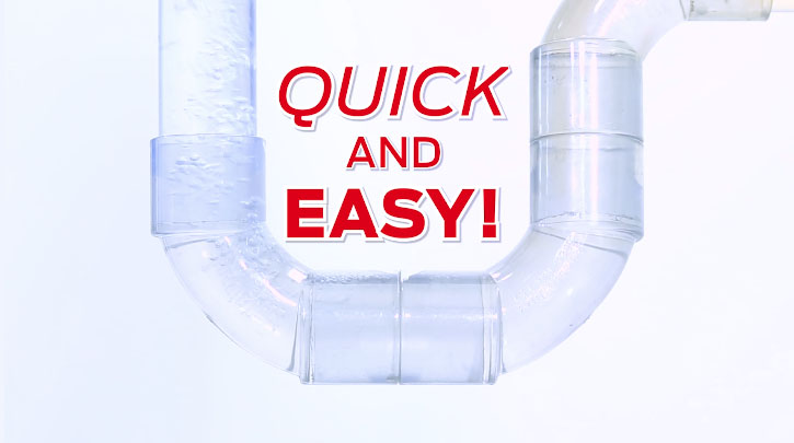 Quick and easy way to unblock your drains