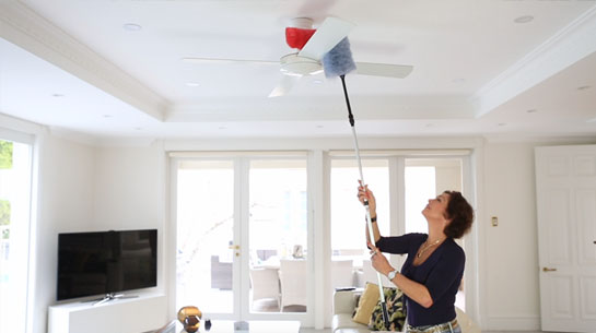 ceiling fan duster with extension pole. miracle magnetic duster ceiling fan with extension pole