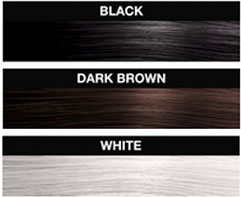 Instant hair in black with the Hollywood Hair Fibre colour range