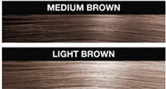 Get medium brown fill in hair quick and easy