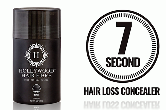The easy to use Hair Fibre shake container is sprinkled over the existing hair