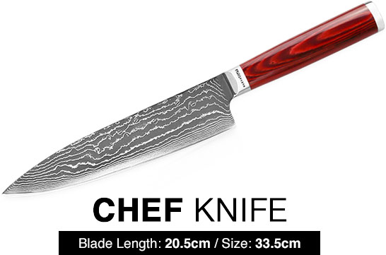 Kleva Cut Master Series - Damascus Chef Knife
