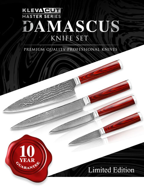 Kleva Cut Master Series - Damascus Knife Set