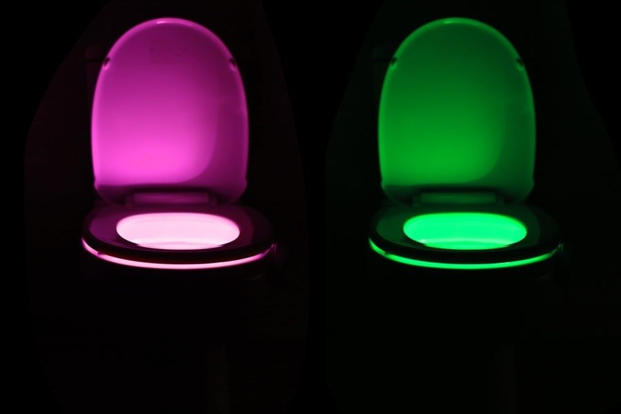 The incredible motion activated bathroom nightlight