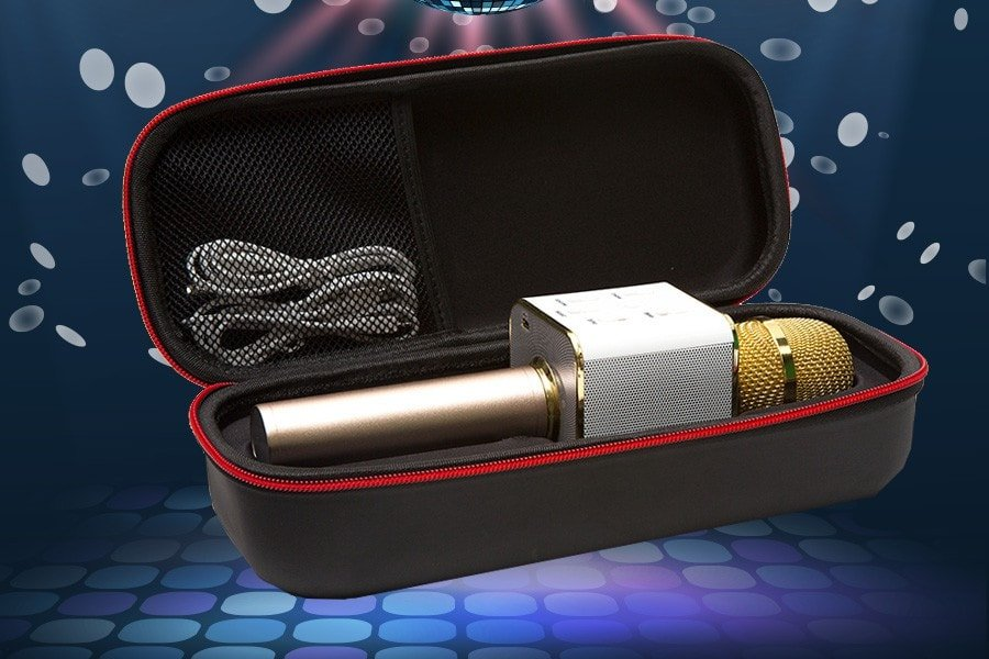 Portable karaoke microphone to liven up any event