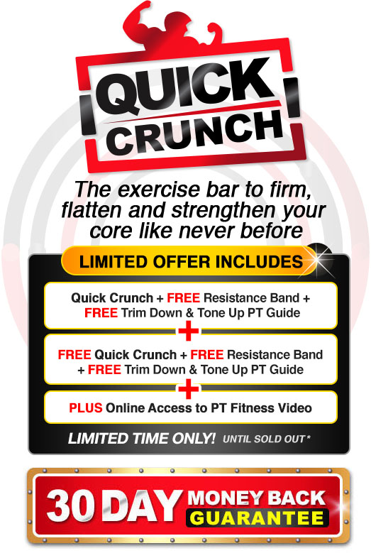 Quick Crunch 30 day money back guarantee