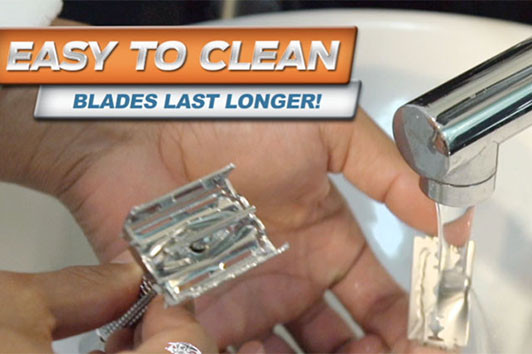 The Sympler Safety Razor is easy to clean, making the blades last a long time