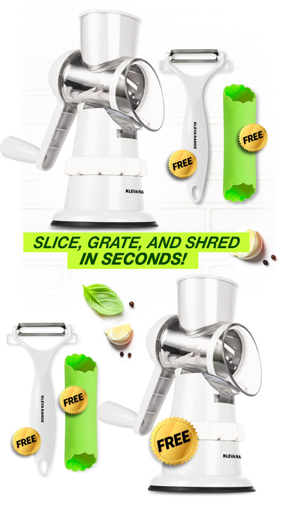 Slice Grate & Shred in Seconds