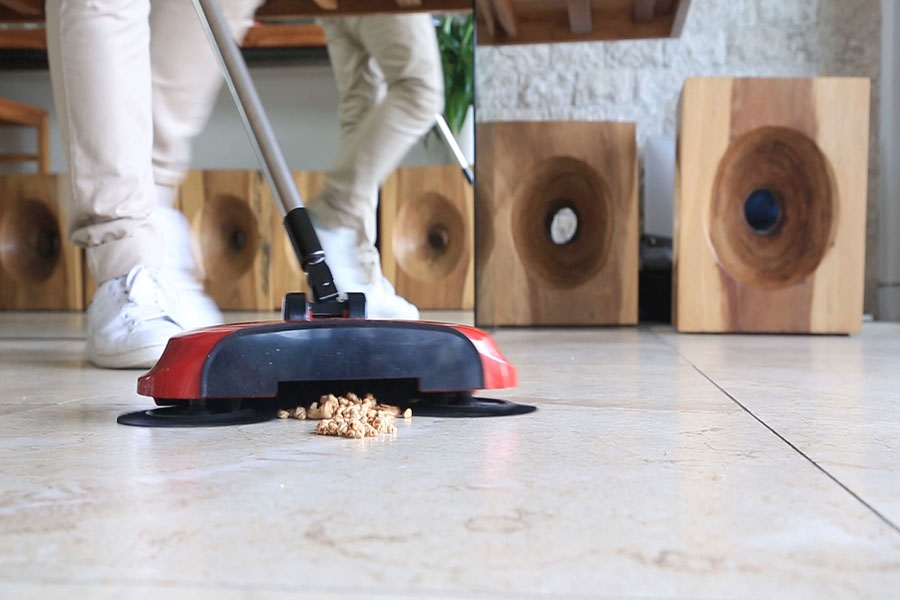 A broom and a vacuum combined in one amazing, cordless, portable device!