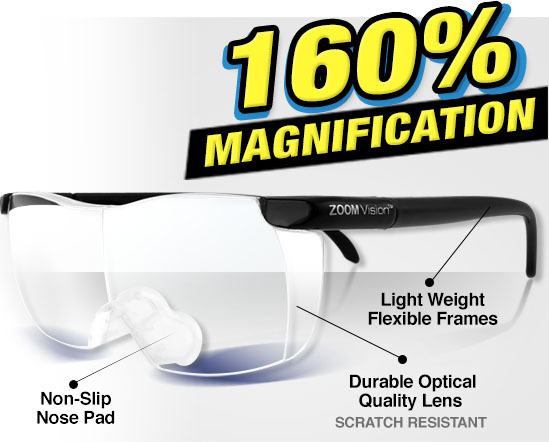 Zoom Vision 160% Magnification